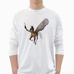 Flying Pony 2 Mens' Long Sleeve T Shirt (white) by gatterwe