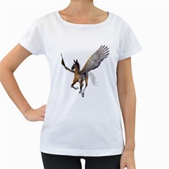Flying Pony 2 Womens' Maternity T Shirt (white) by gatterwe