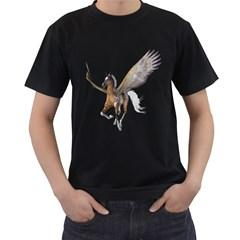 Flying Pony 2 Mens' T Shirt (black) by gatterwe