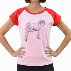 Silver Unicorn Women s Cap Sleeve T Shirt (colored) by gatterwe