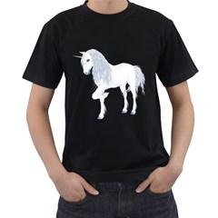 White Unicorn 4 Mens' Two Sided T Shirt (black) by gatterwe
