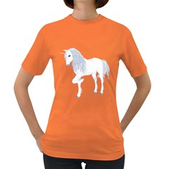 White Unicorn 4 Womens' T Shirt (colored) by gatterwe