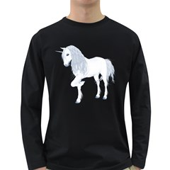 White Unicorn 4 Mens' Long Sleeve T Shirt (dark Colored) by gatterwe