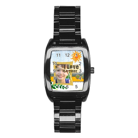 Summer By Joely   Stainless Steel Barrel Watch   P8ngcayjcwz0   Www Artscow Com Front