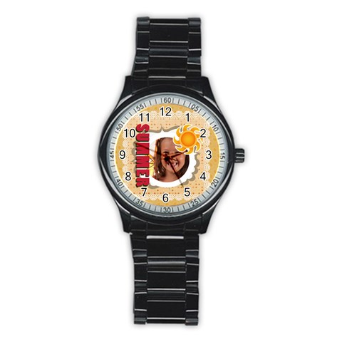 Summer By Joely   Stainless Steel Round Watch   Pcadr022v1pb   Www Artscow Com Front