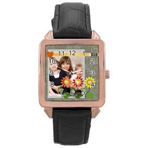 Summer By Joely   Rose Gold Leather Watch    37ciyl81wkgd   Www Artscow Com Front