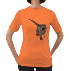 Tyrannosaurus Rex Womens' T Shirt (colored) by gatterwe