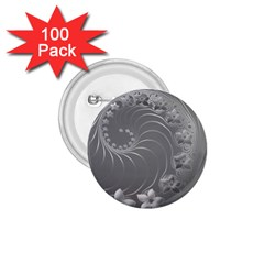 Gray Abstract Flowers 1 75  Button (100 Pack) by BestCustomGiftsForYou