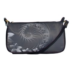 Gray Abstract Flowers Evening Bag by BestCustomGiftsForYou