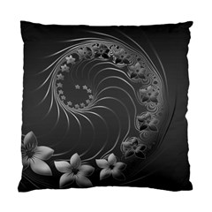 Dark Gray Abstract Flowers Cushion Case (one Side) by BestCustomGiftsForYou