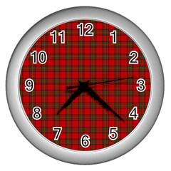The Clan Steward Tartan Wall Clock (silver) by BestCustomGiftsForYou