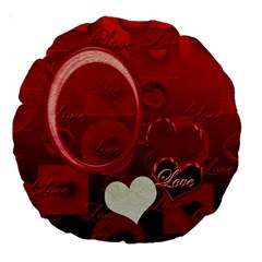 Red Love 18  Round Cushion Case 2 Sides By Ellan   Large 18  Premium Round Cushion    Du0srfeqz9ow   Www Artscow Com Front
