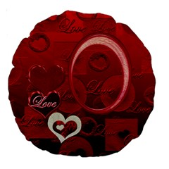 Red Love 18  Round Cushion Case 2 Sides By Ellan   Large 18  Premium Round Cushion    Du0srfeqz9ow   Www Artscow Com Back