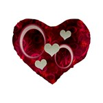 I Heart You Pink Love 16  heart cushion - Standard 16  Premium Heart Shape Cushion