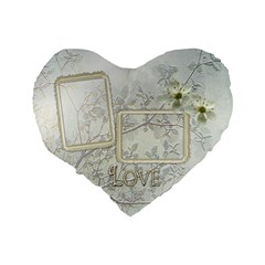 White Love 16  Heart Cushion By Ellan   Standard 16  Premium Heart Shape Cushion    0mcxmipmq47i   Www Artscow Com Back