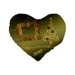 Christmas 16  heart cushion - Standard 16  Premium Heart Shape Cushion