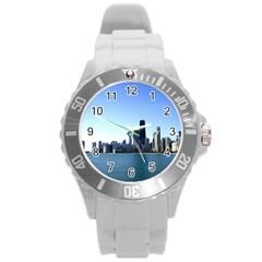 Chicago Skyline Plastic Sport Watch (large) by canvasngiftshop