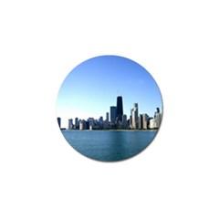 Chicago Skyline Golf Ball Marker 4 Pack by canvasngiftshop