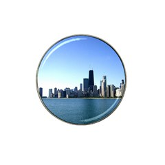 Chicago Skyline Golf Ball Marker 10 Pack (for Hat Clip) by canvasngiftshop