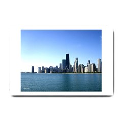 Chicago Skyline Small Door Mat by canvasngiftshop