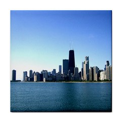 Chicago Skyline Face Towel by canvasngiftshop