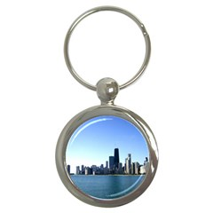 Chicago Skyline Key Chain (round) by canvasngiftshop