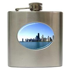 Chicago Skyline Hip Flask by canvasngiftshop