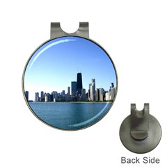 Chicago Skyline Hat Clip With Golf Ball Marker by canvasngiftshop