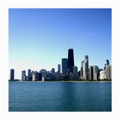 Chicago Skyline Glasses Cloth (medium, Two Sided) by canvasngiftshop
