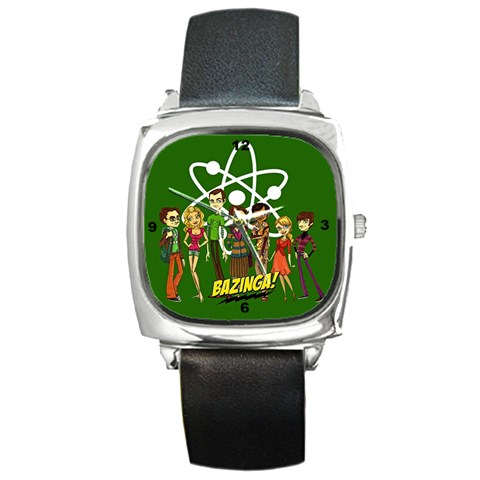 Big Bang Theory Square Watch By Claire Mcallen   Square Metal Watch   Tt8wj069bppa   Www Artscow Com Front