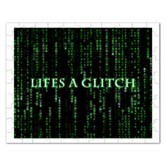 Lifes A Glitch Jigsaw Puzzle (rectangle)