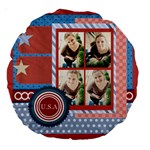 usa 4 july - Large 18  Premium Round Cushion