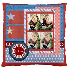 Usa 4 July By Usa   Large Cushion Case (two Sides)   5a4gsp2s8uwt   Www Artscow Com Front