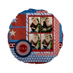 usa 4 july - Standard 15  Premium Round Cushion