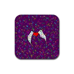 Your Heart Has Wings So Fly   Updated Drink Coaster (square) by KurisutsuresRandoms