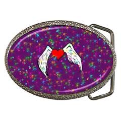 Your Heart Has Wings So Fly   Updated Belt Buckle (oval) by KurisutsuresRandoms