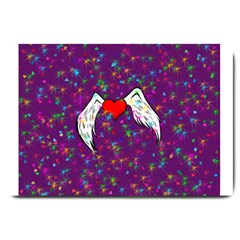 Your Heart Has Wings So Fly   Updated Large Door Mat by KurisutsuresRandoms