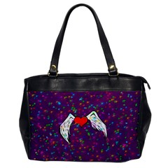 Your Heart Has Wings So Fly   Updated Oversize Office Handbag (one Side) by KurisutsuresRandoms