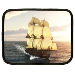 French Warship Netbook Case (large) by gatterwe