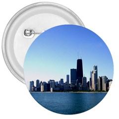 Chicago Skyline 3  Button by canvasngiftshop