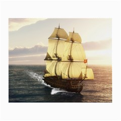 French Warship Glasses Cloth (small, Two Sided) by gatterwe