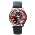 circle of hearts watch - Round Metal Watch