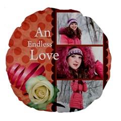 Love By Ki Ki   Large 18  Premium Round Cushion    2xeku09wg3lr   Www Artscow Com Front
