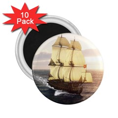 French Warship 2 25  Button Magnet (10 Pack) by gatterwe