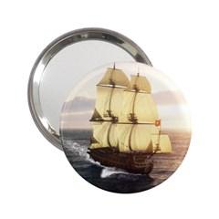 French Warship Handbag Mirror (2.25 )