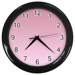 Puce To Pink Lace Gradient Wall Clock (black) by BestCustomGiftsForYou
