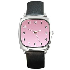 Puce To Pink Lace Gradient Square Leather Watch by BestCustomGiftsForYou