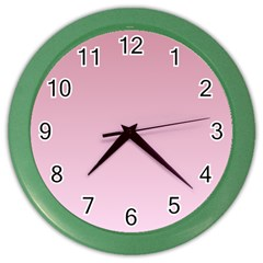 Puce To Pink Lace Gradient Wall Clock (color) by BestCustomGiftsForYou
