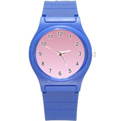 Puce To Pink Lace Gradient Plastic Sport Watch (small) by BestCustomGiftsForYou