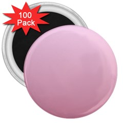 Pink Lace To Puce Gradient 3  Button Magnet (100 Pack) by BestCustomGiftsForYou